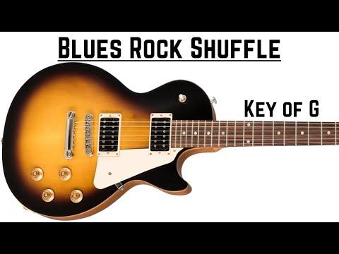Rock Shuffle Blues | Guitar Backing Track in G (130bpm)