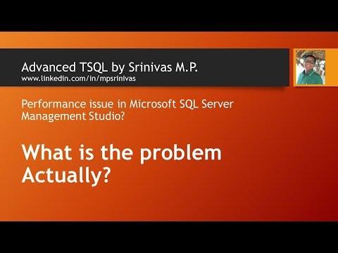 SQL Server Management Studio RAM Usage Keeps Increasing For No Reason