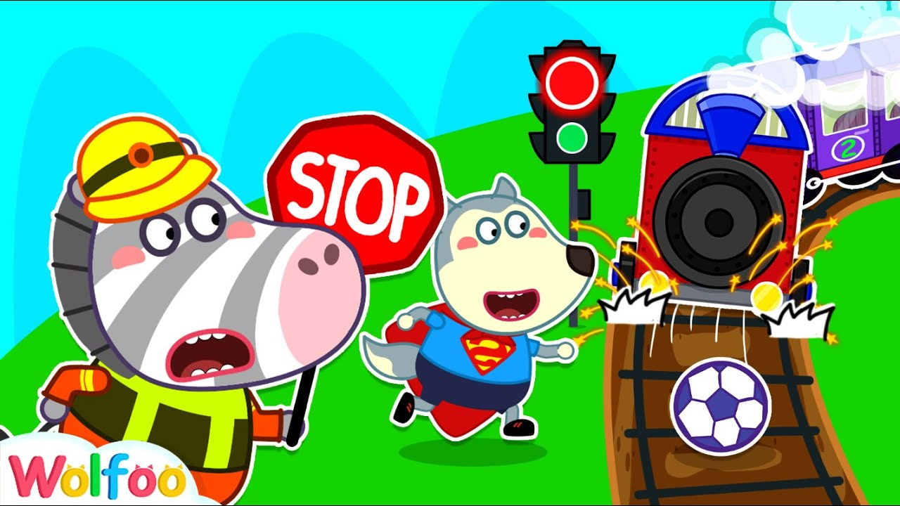 No No, Keep Away from Railway! Wolfoo Learns Safety Tips for Kids | Wolfoo Family Kids Cartoon