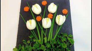 """ЗАКУСКА ОРИГИНАЛЬНАЯ """"БУКЕТ ТЮЛЬПАНОВ"""" (snack original bouquet of tulips)"""