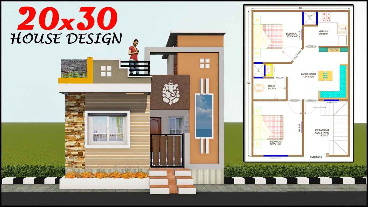 20x30 House Plan With Elevation 2bhk House Design Youtube