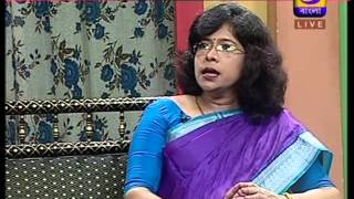 dr indrani dutta in a live tv programme dd bangla on 4 12 2015 ghore baire