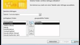 Abfragen erstellen mit Microsoft Access 2013