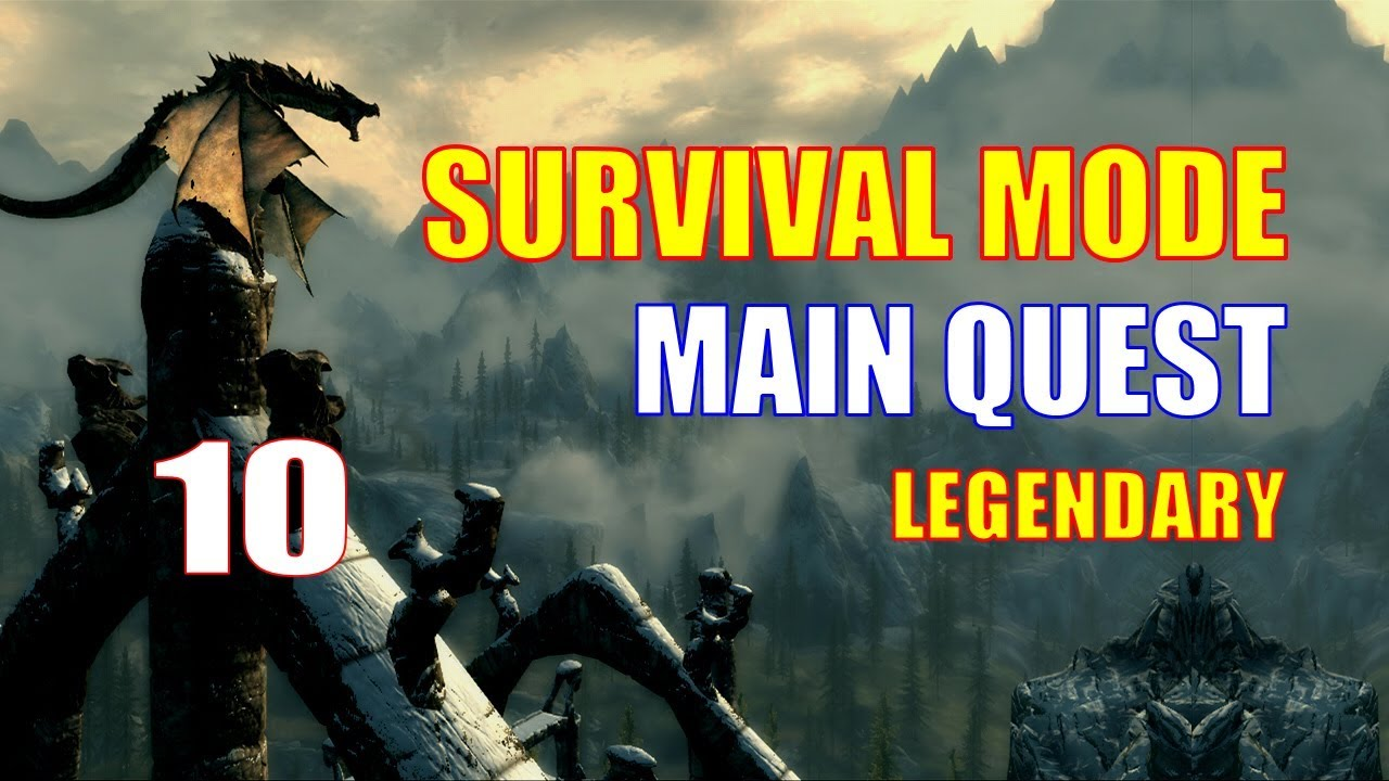 Skyrim Survival Mode Walkthrough MAIN QUEST Part 10 - Canis Root Run Up to  Ivarstead