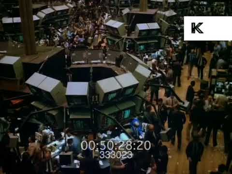 1990s Wall Street and New York Stock Exchange Trading Floor