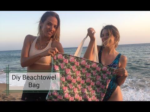 DIY:Τσάντα παραλίας & πετσέτα μαζί