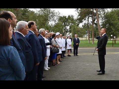 İlham Əliyevin Biləsuvar Mərkəzi Rayon Xəstəxanasının açılışında nitqi