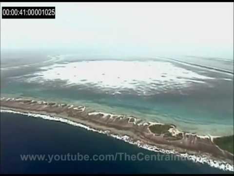 Amazing underground nuclear test in Mururoa atoll