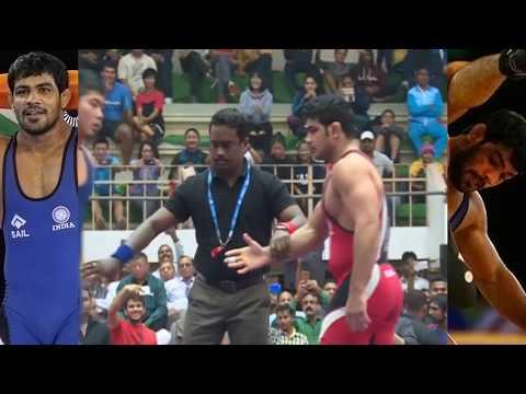 सुशिल कुमार ने एक दाव में किया चित - National Wrestling Championship 2017