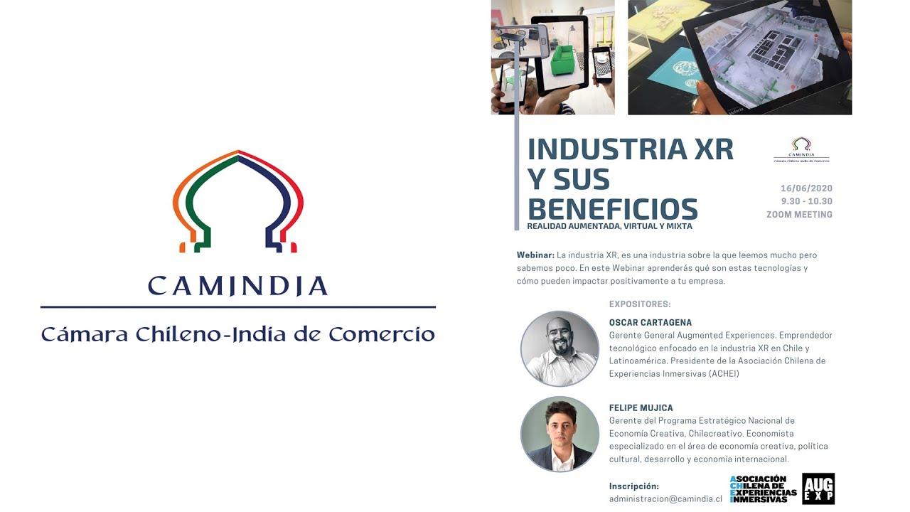 Webinar Camindia: Industria XR y sus Beneficios
