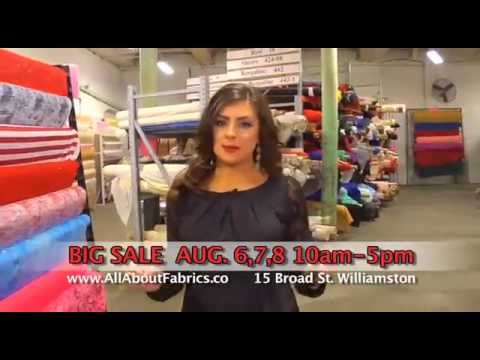 All About Fabrics Warehouse 3 Day Sale - Aug 6-7-8