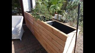Hochbeet als Windschutz oder Sichtschutz für Terasse und Garten, selber machen