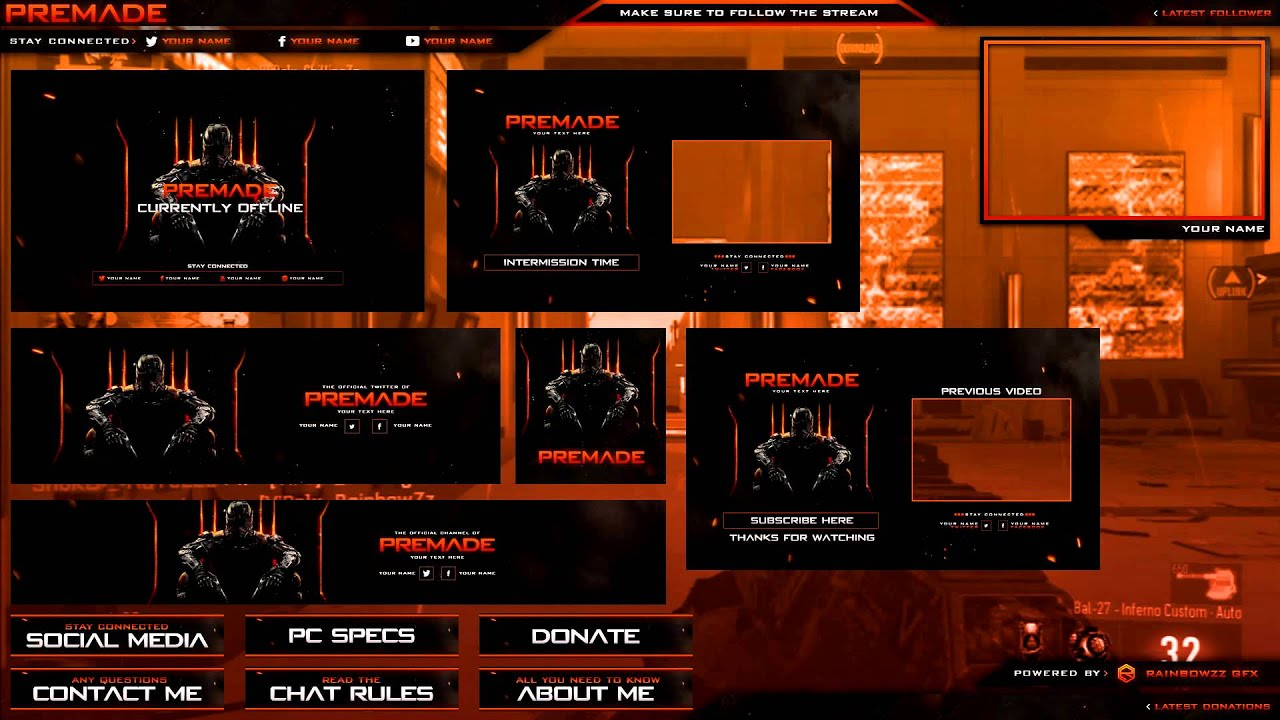 free black ops 3 pack template psd overlay banner