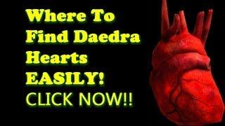 Where to find Daedra Hearts Easily - Skyrim