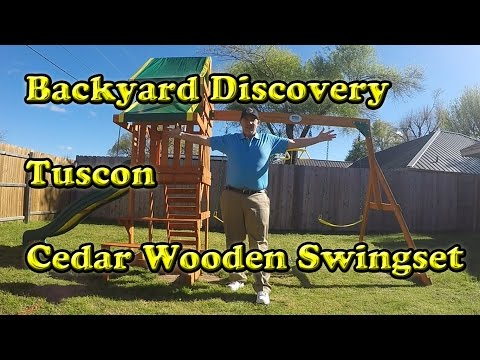 Backyard Discovery Tucson Cedar Wooden Swing Set<a href='/yt-w/FYS98eSHPIY/backyard-discovery-tucson-cedar-wooden-swing-set.html' target='_blank' title='Play' onclick='reloadPage();'>   <span class='button' style='color: #fff'> Watch Video</a></span>