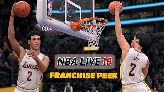 NBA Live 18 | Franchise Mode Gameplay First Peek with Lonzo Ball And The Lakers (Opening Night Game)