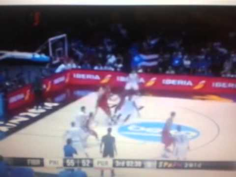 Gilas vs Puerto Rico 2014 #freethrow made by paul lee added to the score of puerto rico