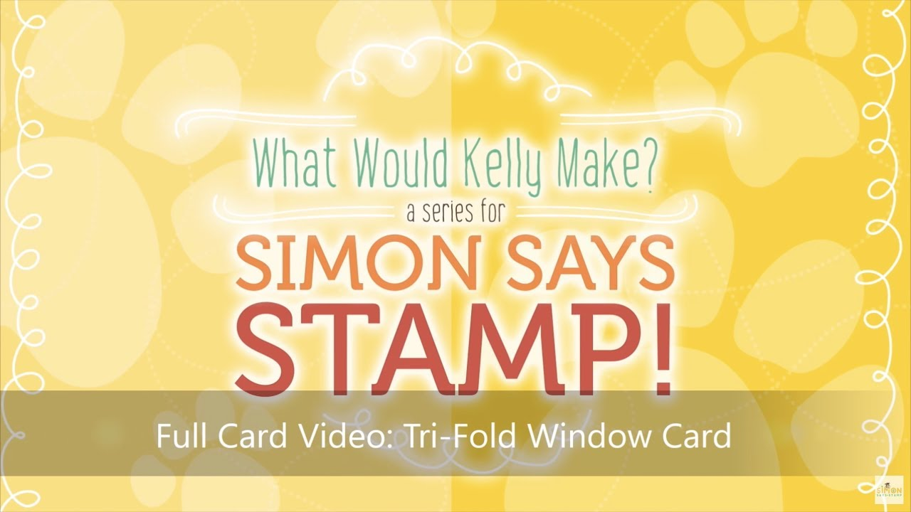 what would kelly make series tri fold window card youtube