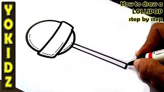 How to draw a LOLLIPOP step by step