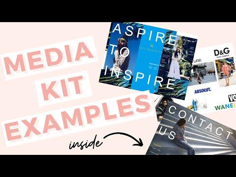 Media Kit Examples & Media Kit Templates!
