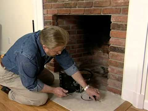 How to Put in a Gas Log Set for a Fireplace - YouTube