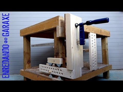How to make a leg vise for the workbench. DIY leg vice