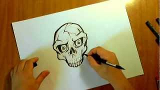 HOW TO DRAW A SKULL GRAFFITI