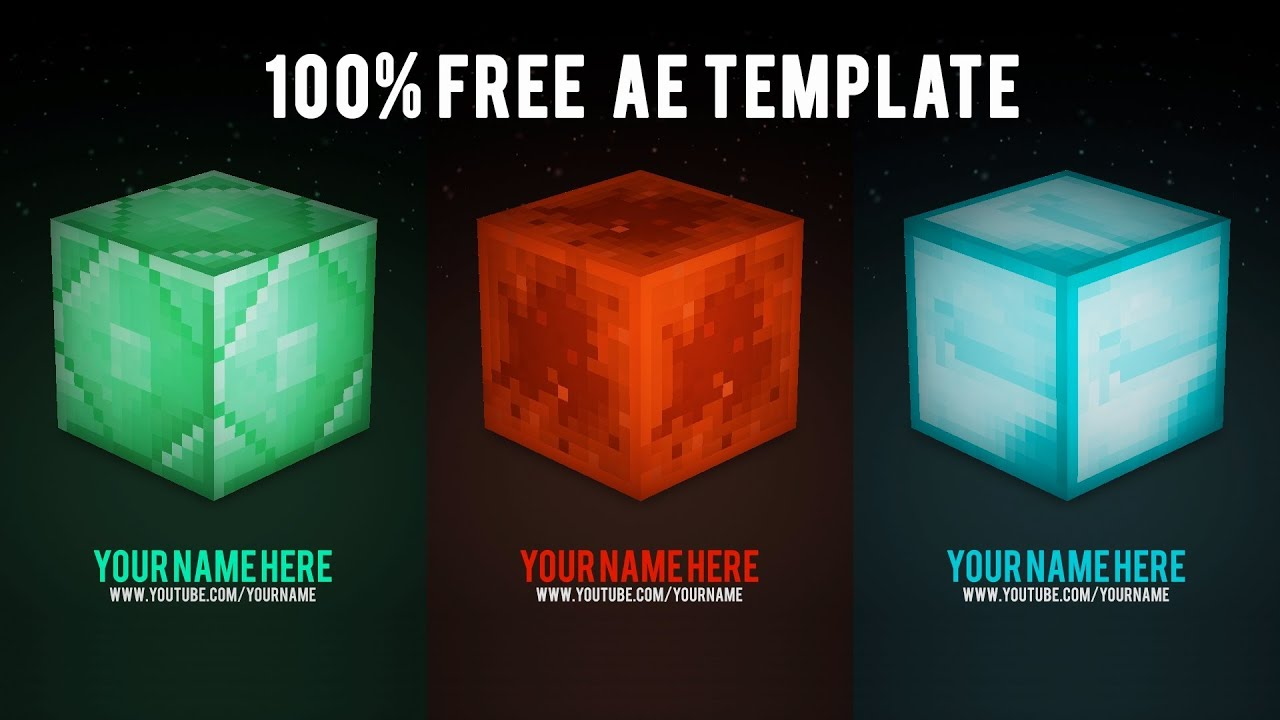 Free Minecraft 3d Block Intro Template After Effects Cs5