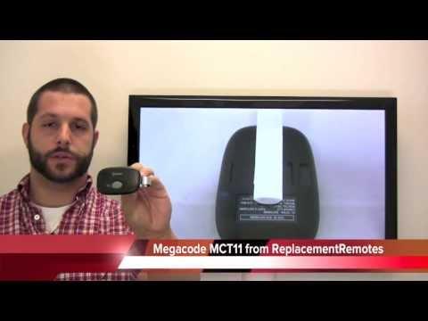 MegaCode MCT11 transmitter 318mhz Garage Door Opener PN: MCT11 - www.ReplacementRemotes.com