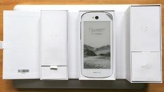 Распаковка белого YotaPhone 2 и фирменного бампера (unboxing)