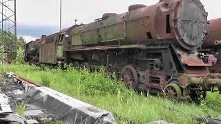 Jens im Einsatz heute Lok Museum Falkenberg mit alten Dampfloks Teil 1