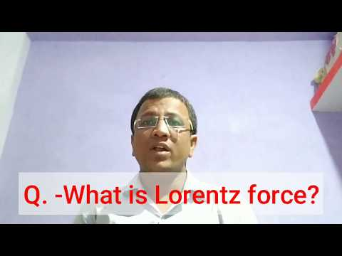 What is Lorentz force?