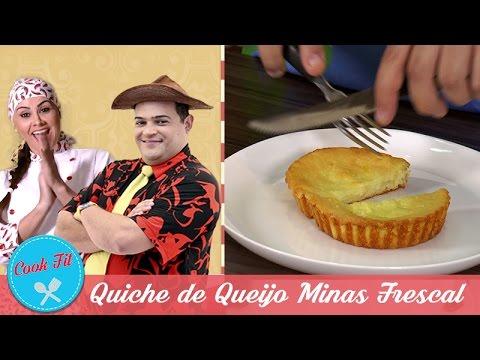 QUICHE DE QUEIJO MINAS FRESCAL | Cook Fit | Matheus Ceará E Dani Iafelix