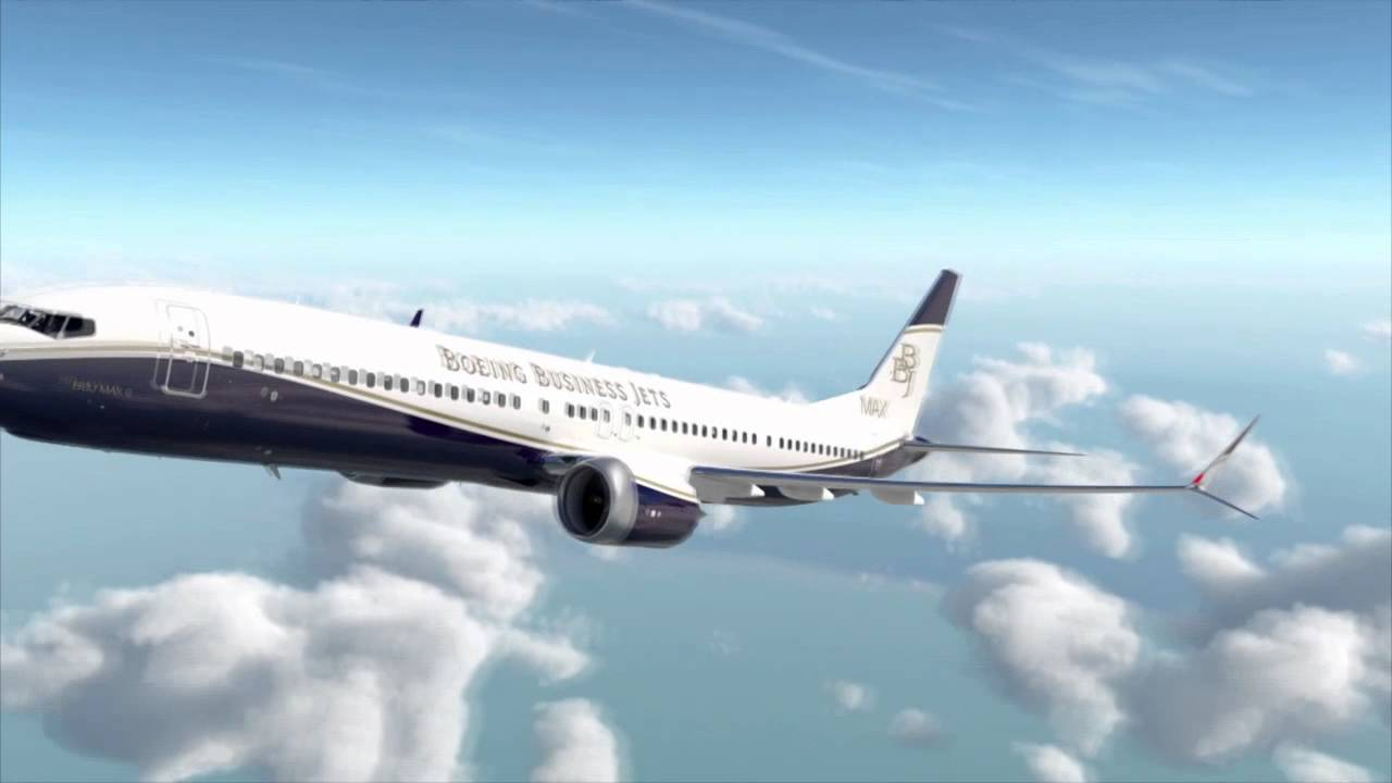 Bbj max youtube for Large cabin business jets