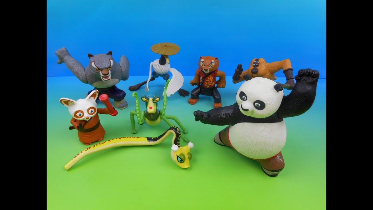 2008 Kung Fu Panda Set Of 8 Mcdonald S Happy Meal Kid S