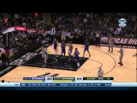 Boris Diaw 14 Points 7 Assists Full Highlights Spurs vs Kings (12.29.2013)