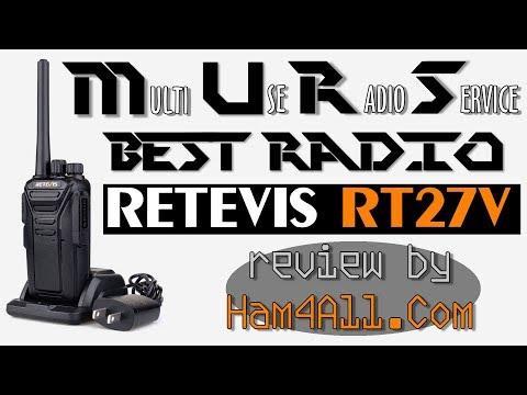 Retevis RT27V - The BEST MURS Radio - Review!