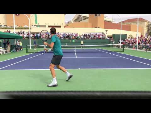 Roger Federer practice Indian Wells 2018