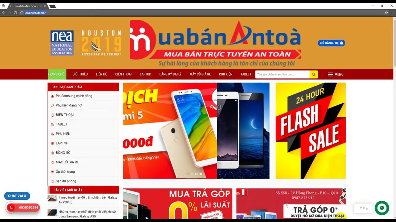 Full code website Thương Mại Điện Tử, bán điện thoại laptop chuẩn seo woordpress