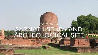 Sarnath Stupa where Buddha taught his First Sermon near Varanasi India