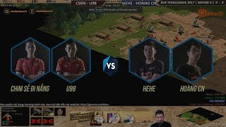 aoe star league 2017   vng 6 trận 3   csdn u98 vs he he hong cn   ngy 26 11 2017