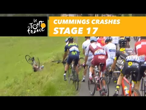 Cummings crashes - Stage 17 - Tour de France 2017
