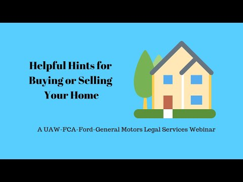 Helpful Hints for Buying or Selling Your Home