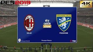 PES 2019 (PC) AC Milan vs Frosinone | REALISTIC SERIE A PREDICTION | 19/5/2019 | 4K 60FPS