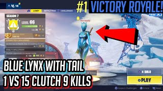 "UNLOCKING THE MAX BLUE ""LYNX"" SKIN in Fortnite: Battle Royale! + Gameplay"