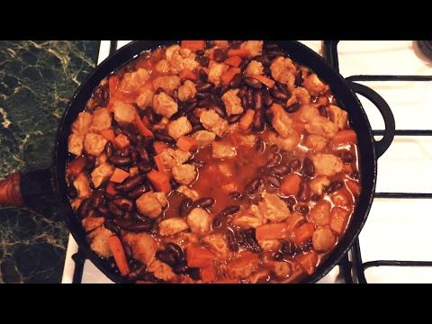 Лобио с Соевым мясом  ( Веганское   Вегетарианское )