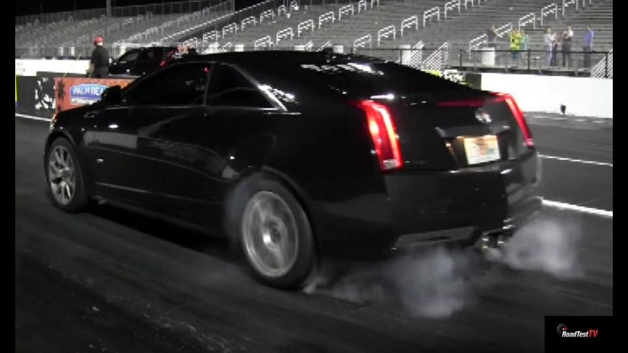 2017 Cadillac Cts V Coupe Acceleration Drag Test Video Launch 0 60 1 4 Mile You