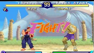 Street Fighter Alpha 2 (1996) [SNES] Ryu Gameplay on 1 Star mode Part 2