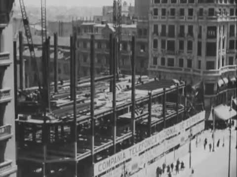 Construcci n del edificio de telef nica en gran v a - Empresas de construccion en madrid ...