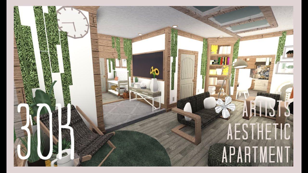 Bloxburg Artists Aesthetic Apartment 30k Annie S Room Youtube
